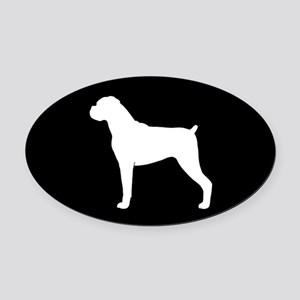 Boxer Dog Oval Car Magnet