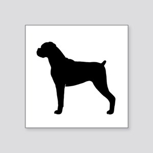 "Boxer Dog Square Sticker 3"" x 3"""