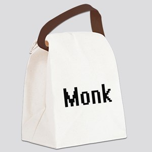 Monk Retro Digital Job Design Canvas Lunch Bag