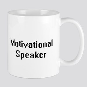Motivational Speaker Retro Digital Job Design Mugs
