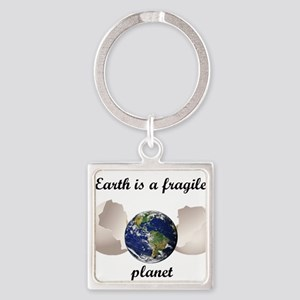 Earth is a fragile planet Keychains