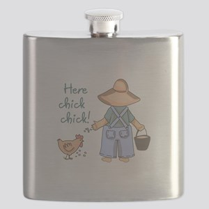 Here Chick Chick! Flask