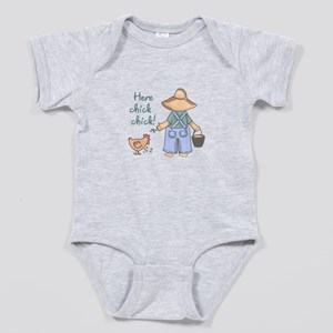 Here Chick Chick! Baby Bodysuit