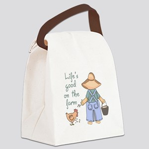 Life's Good Canvas Lunch Bag