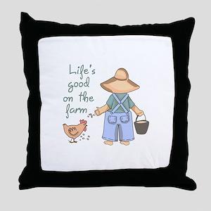 Life's Good Throw Pillow