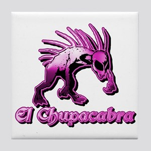 Chupacabra Pink Plain Tile Coaster