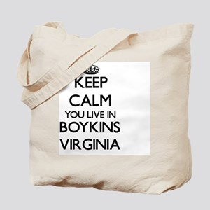 Keep calm you live in Boykins Virginia Tote Bag