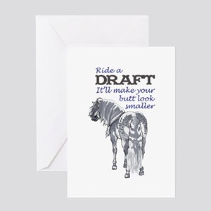 RIDE A DRAFT Greeting Cards
