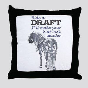 RIDE A DRAFT Throw Pillow