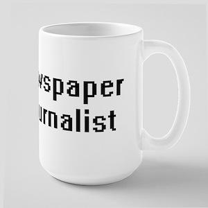 Newspaper Journalist Retro Digital Job Design Mugs