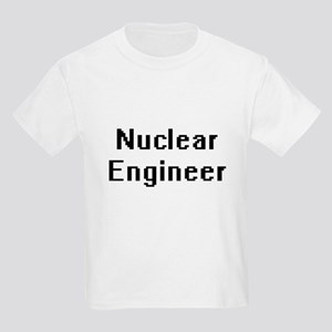 Nuclear Engineer Retro Digital Job Design T-Shirt