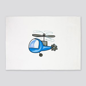 CHILDRENS HELICOPTER 5'x7'Area Rug