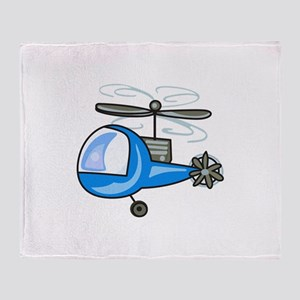 CHILDRENS HELICOPTER Throw Blanket