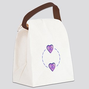 HEARTS NAME DROP Canvas Lunch Bag