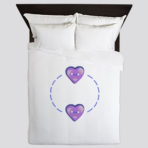 HEARTS NAME DROP Queen Duvet