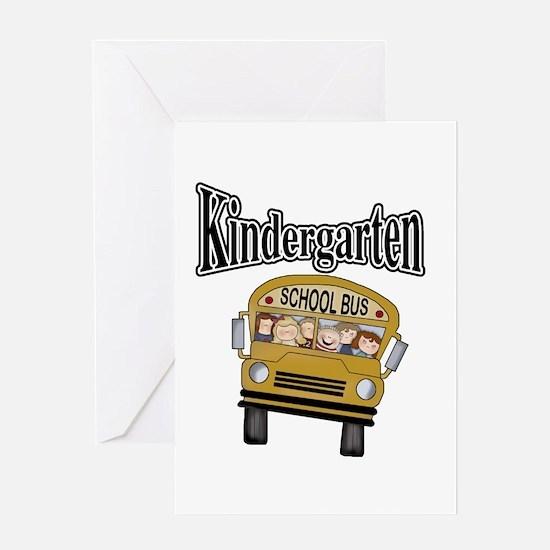 School Bus Kindergarten Greeting Card