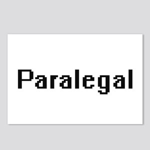 Paralegal Retro Digital J Postcards (Package of 8)