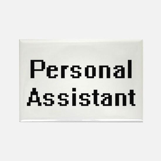 Personal Assistant Retro Digital Job Desig Magnets