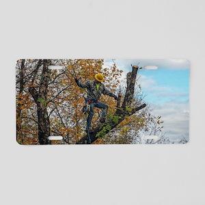 Tree Surgeon Aluminum License Plate