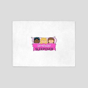 BIRTHDAY SLEEPOVER 5'x7'Area Rug