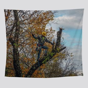 Tree Surgeon Wall Tapestry