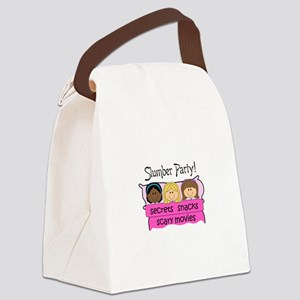 GIRLS SLUMBER PARTY Canvas Lunch Bag