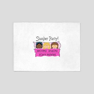 GIRLS SLUMBER PARTY 5'x7'Area Rug