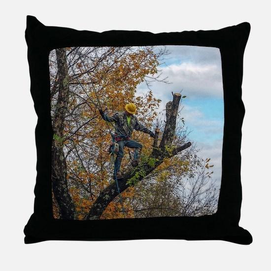 Tree Surgeon Throw Pillow