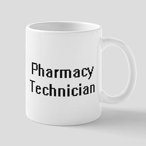 Pharmacy Technician Retro Digital Job Design Mugs