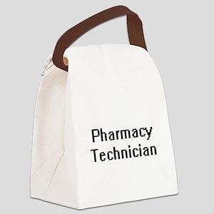 Pharmacy Technician Retro Digital Canvas Lunch Bag