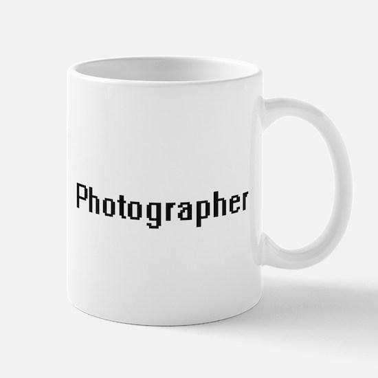 Photographer Retro Digital Job Design Mugs