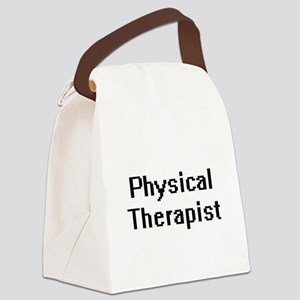 Physical Therapist Retro Digital Canvas Lunch Bag