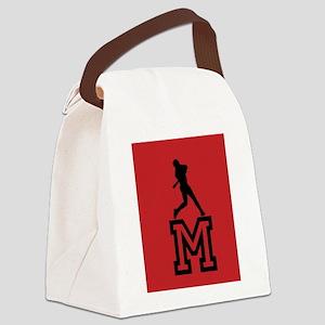 Baseball Star Canvas Lunch Bag