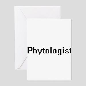 Phytologist Retro Digital Job Desig Greeting Cards