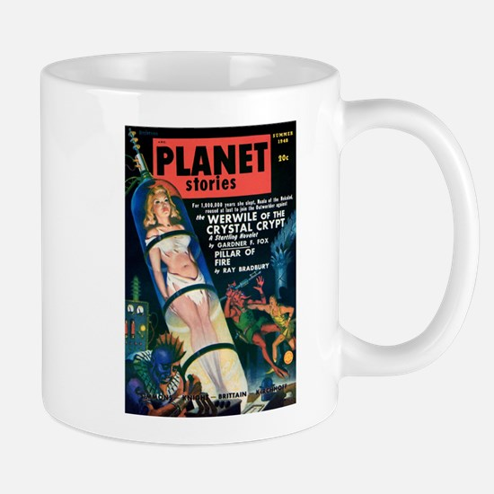 PLANET STORIES-VINTAGE PULP MAGAZINE COVER Mugs