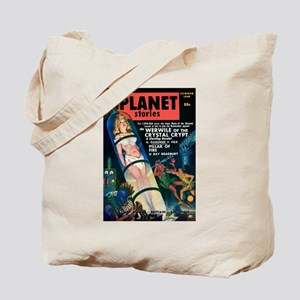 PLANET STORIES-VINTAGE PULP MAGAZINE COVER Tote Ba