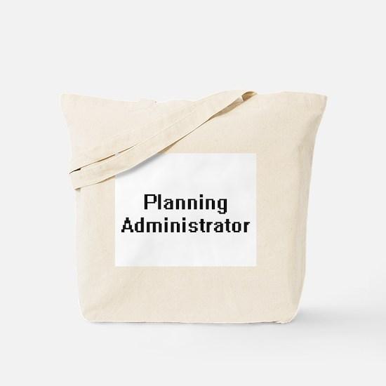Planning Administrator Retro Digital Job Tote Bag