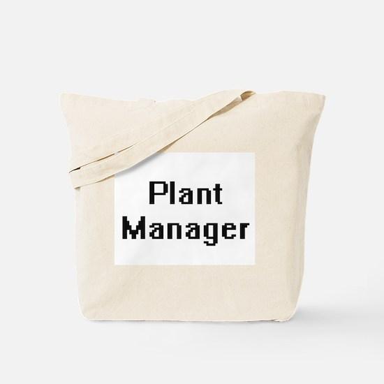 Plant Manager Retro Digital Job Design Tote Bag