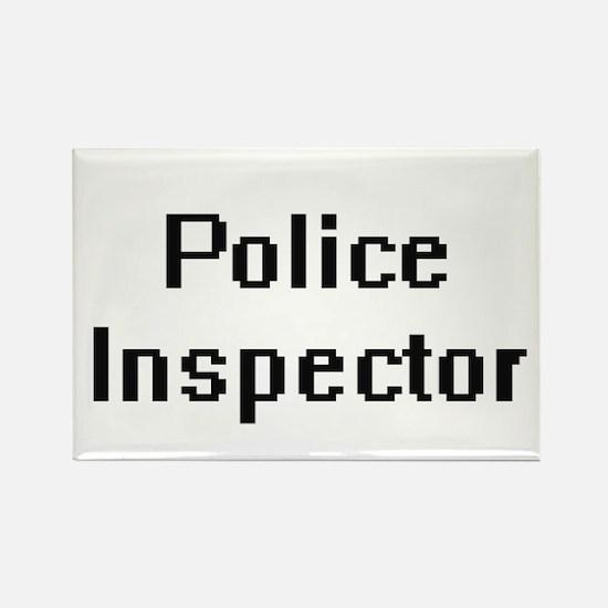 Police Inspector Retro Digital Job Design Magnets