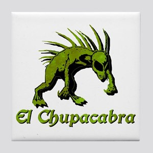 Chupacabra Lime Rust Tile Coaster