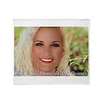 US Blonde American Beauty Throw Blanket
