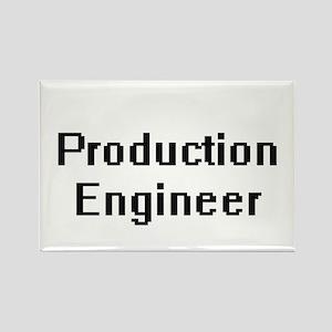 Production Engineer Retro Digital Job Desi Magnets