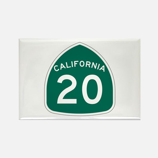 Route 20, California Rectangle Magnet