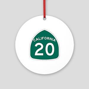 Route 20, California Ornament (Round)