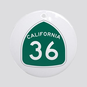 Route 36, California Ornament (Round)