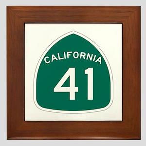 Route 41, California Framed Tile