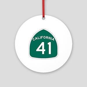 Route 41, California Ornament (Round)