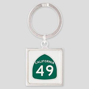 Route 49, California Square Keychain