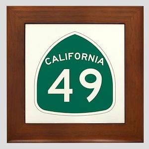 Route 49, California Framed Tile