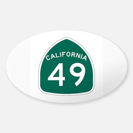 Route 49, California Sticker (Oval)